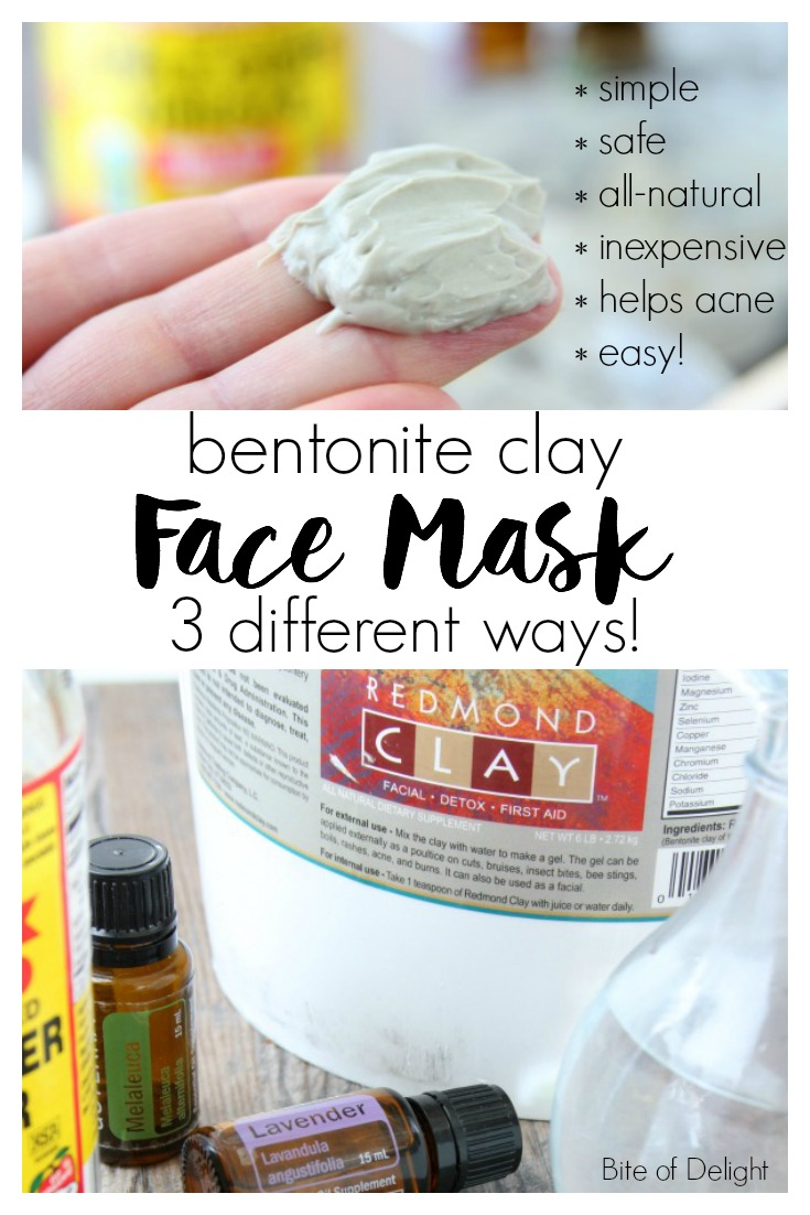 Bentonite Clay Mask 3 Ways! This simple and inexpensive mud mask will be your new favorite way to pamper your delicate skin!   Beauty Recipe   All Natural