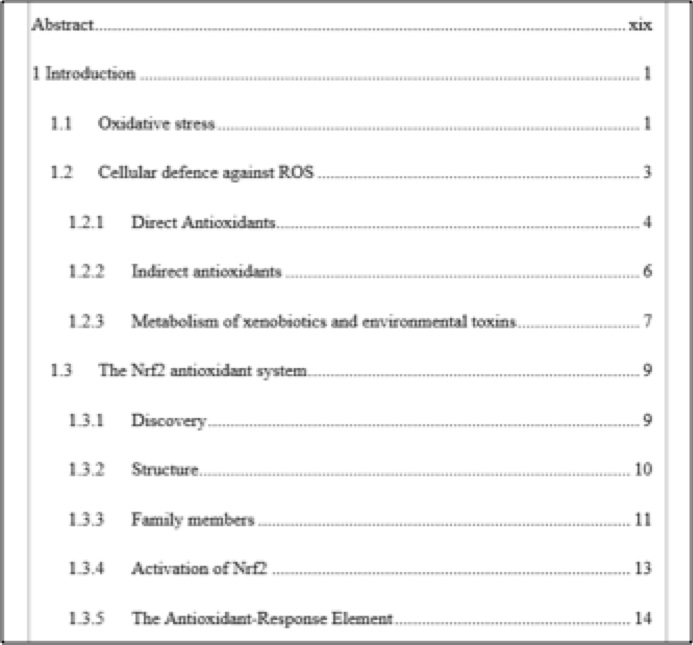 Contents Of A Research Paper