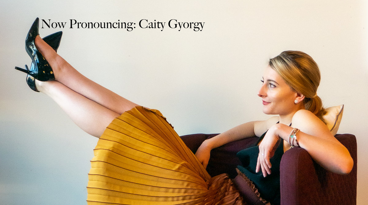 Cover Photo for Caity Gyorgy's new album Now Pronouncing