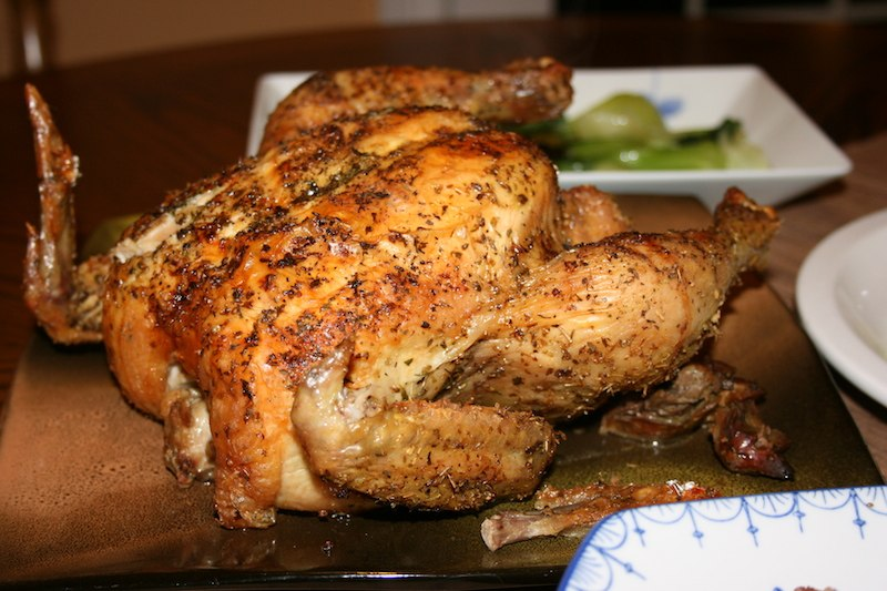 Herb rubbed roasted chicken. biteslife.com