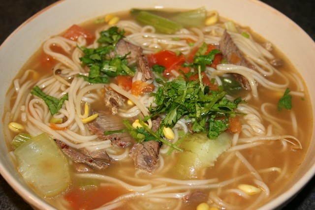 Hearty Asian noodle soup recipe. biteslife.com