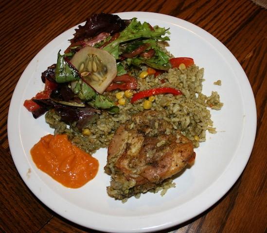 Arroz con pollo Peruvian style