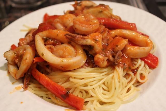 Seafood pasta recipe. biteslife.com