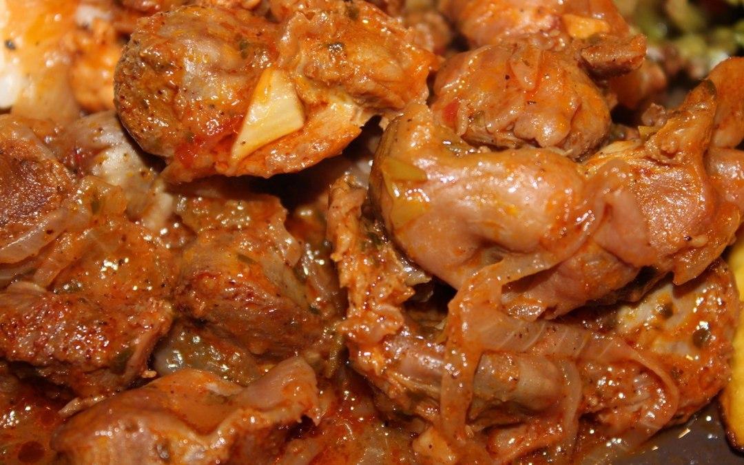 Braised chicken gizzards recipe