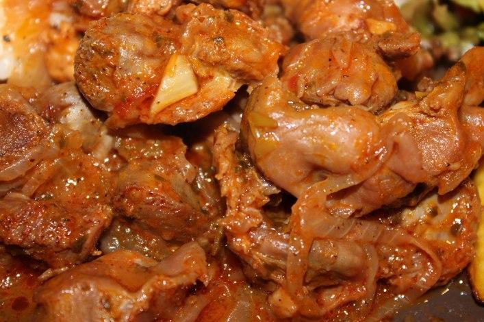 Braised chicken gizzards recipe. biteslife.com
