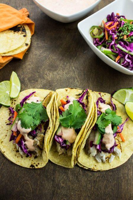 Banh Mi Fish Tacos