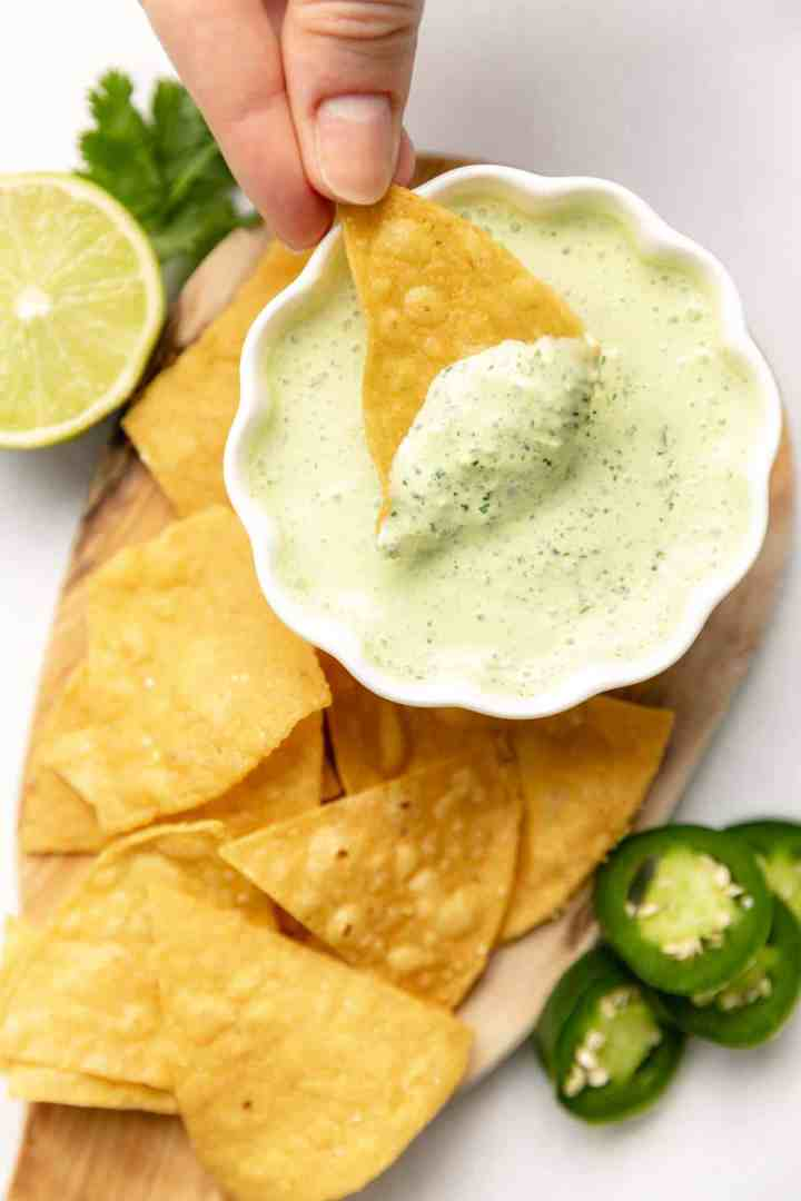 crema up close on a chip