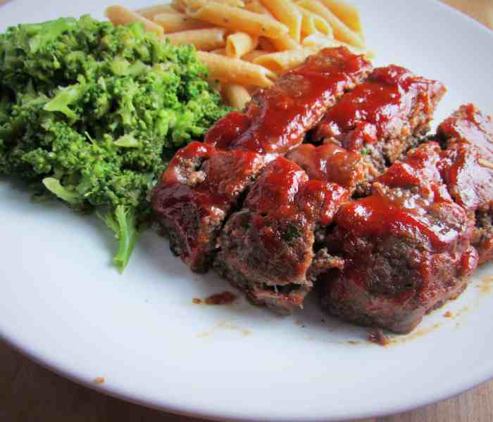 Meatloaf with Ketchup Glaze