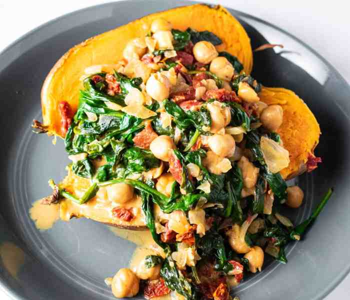 Braised Chickpeas & Spinach in Coconut Milk