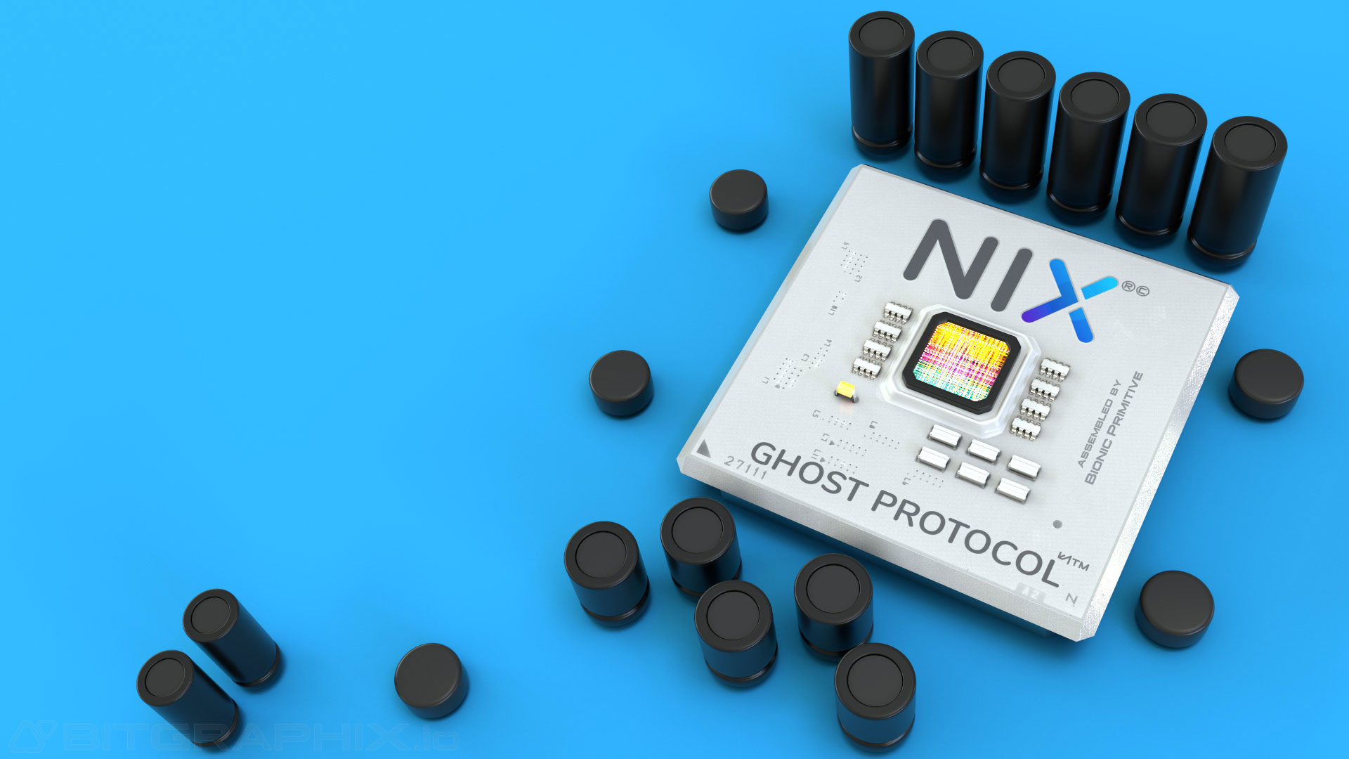 NIX-Platform-Ghost-Protocol-promotional-animation-cpu-detail-blue-background-3d-vfx-redshift-render