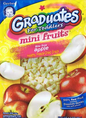 Gerber Graduates for toddlers Mini Fruits bite-size Apple healthy freeze-dried snack