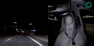 La policía de Tempe muestra el vídeo del accidente del coche autónomo de Uber en el que se ve el momento en el que la mujer cruza en bicicleta y al conductor