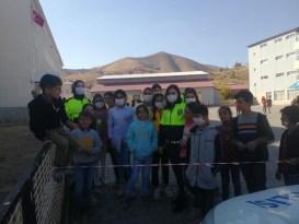 Bitlis'te öğrencilere trafik eğitimi verildi