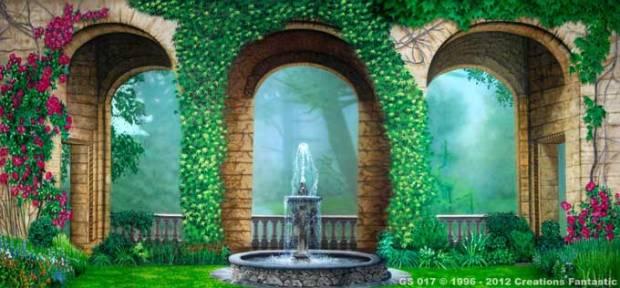 GS-017-Courtyard-Garden Backdrops Beautiful