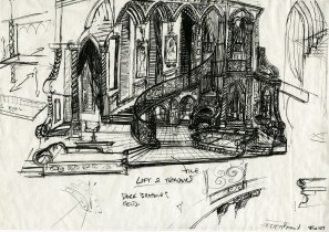 Original Concept Drawing - Photo Coutesy of John Napier Stages