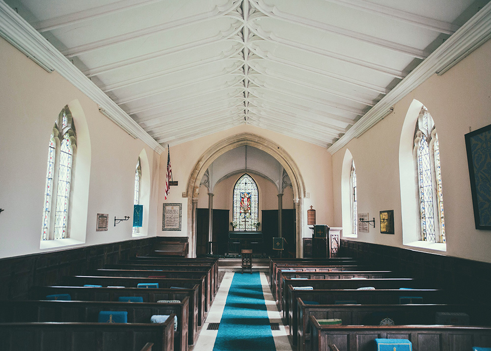 empty church sanctuary