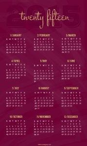 Cranberry Pinnable 2015 Calendar