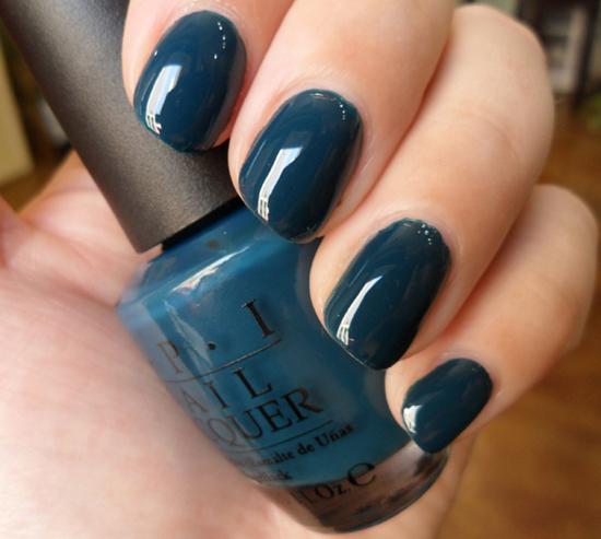 dark nail polish bit of sparkle