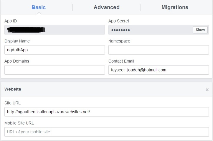 ASP.NET Web API 2 external logins with Facebook and Google in AngularJS app (2/6)