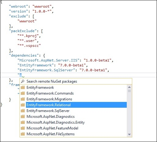 Getting started with ASP.NET 5 MVC 6 Web API & Entity Framework 7 (3/6)