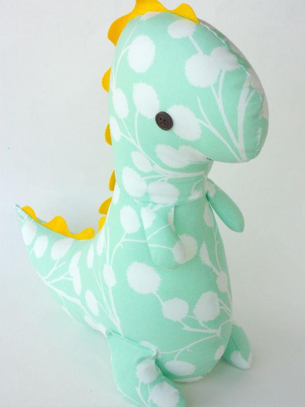 Dinosaur Sewing Pattern : dinosaur, sewing, pattern, Sewing, Pattern, Dinosaur, Stuffed, Animal