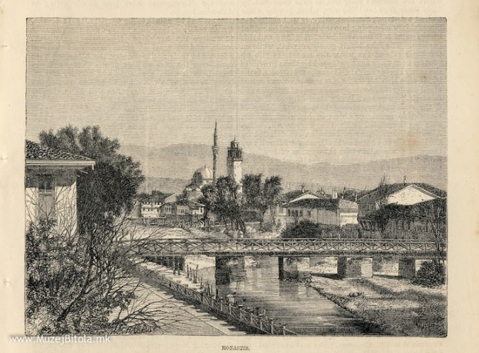 Clock Tower in Bitola - E.Therond, Monastir 1875