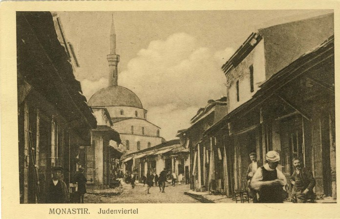 Bitola - Turkish neighborhood with shops, 1915