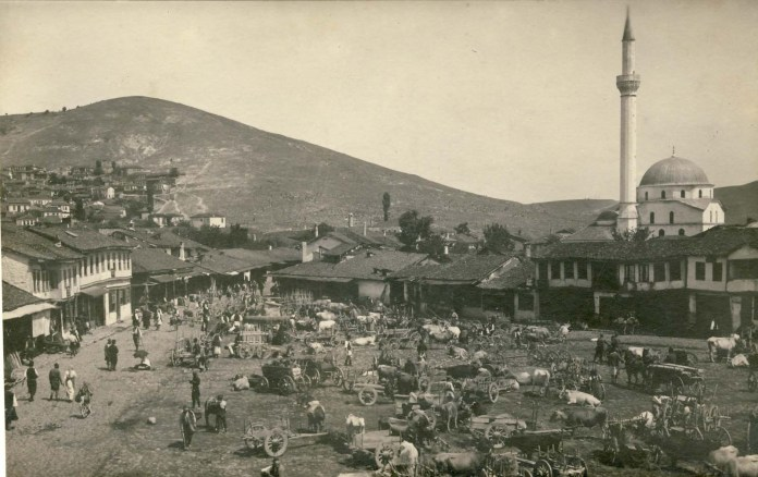 Wood Market with a view to the northeast - 1916