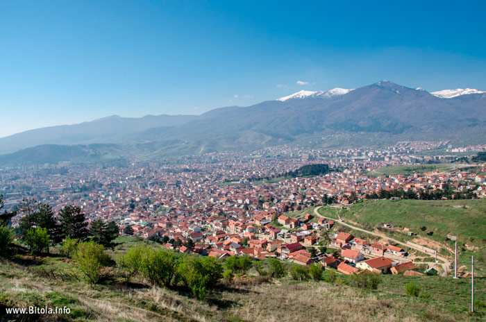 Panorama of Bitola - View from St. Archangel Michael Monastery