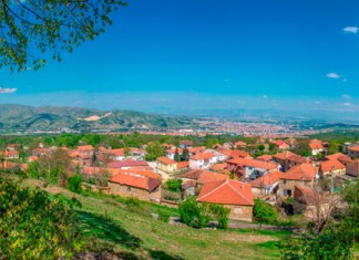 Brusnik village, Municipality of Bitola Macedonia - Panorama