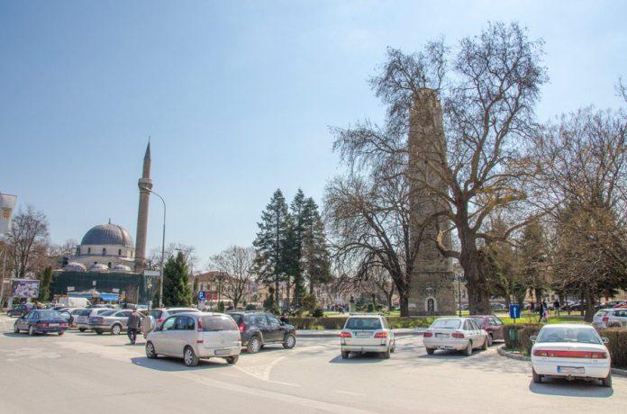 Саат-кулата и Јени џамија за време на Првата светска војна