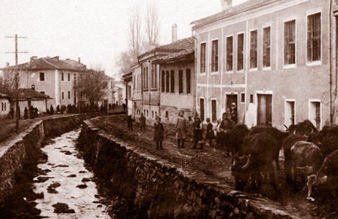 Реката Курдерес - Битола, фотографирано 1916/17 година