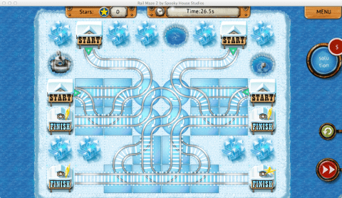 Rail Maze 2 Level 34 Flower solution