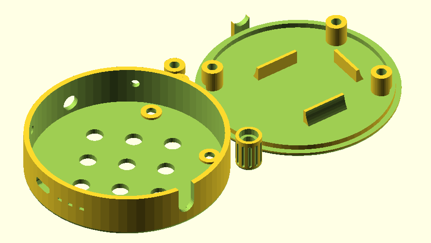 Enclosure CAD model render