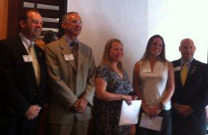 AG Robert Friend, President Ed Vescovi, Kerry Haynes, Emily Granelli and Rick Bassett