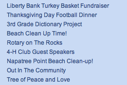 Stoningtons Organizations Supported