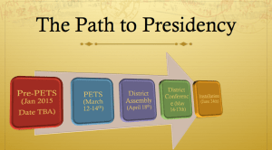 The Path to Presidency