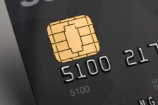 EMV-compliant card with embedded chip
