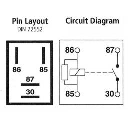 Micro Relay 4-pin 12v 20A with Resistor