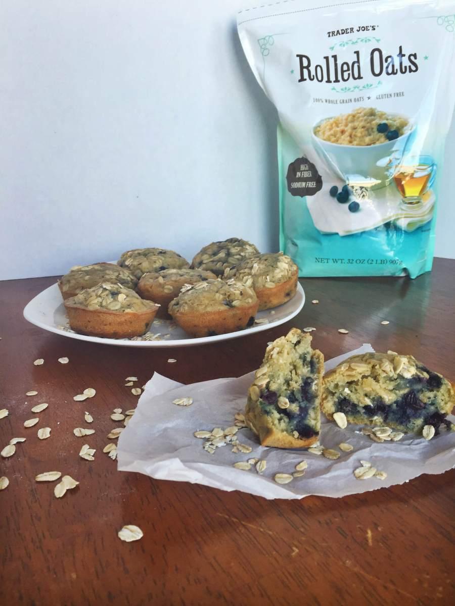 Healthy Blueberry Breakfast Muffins