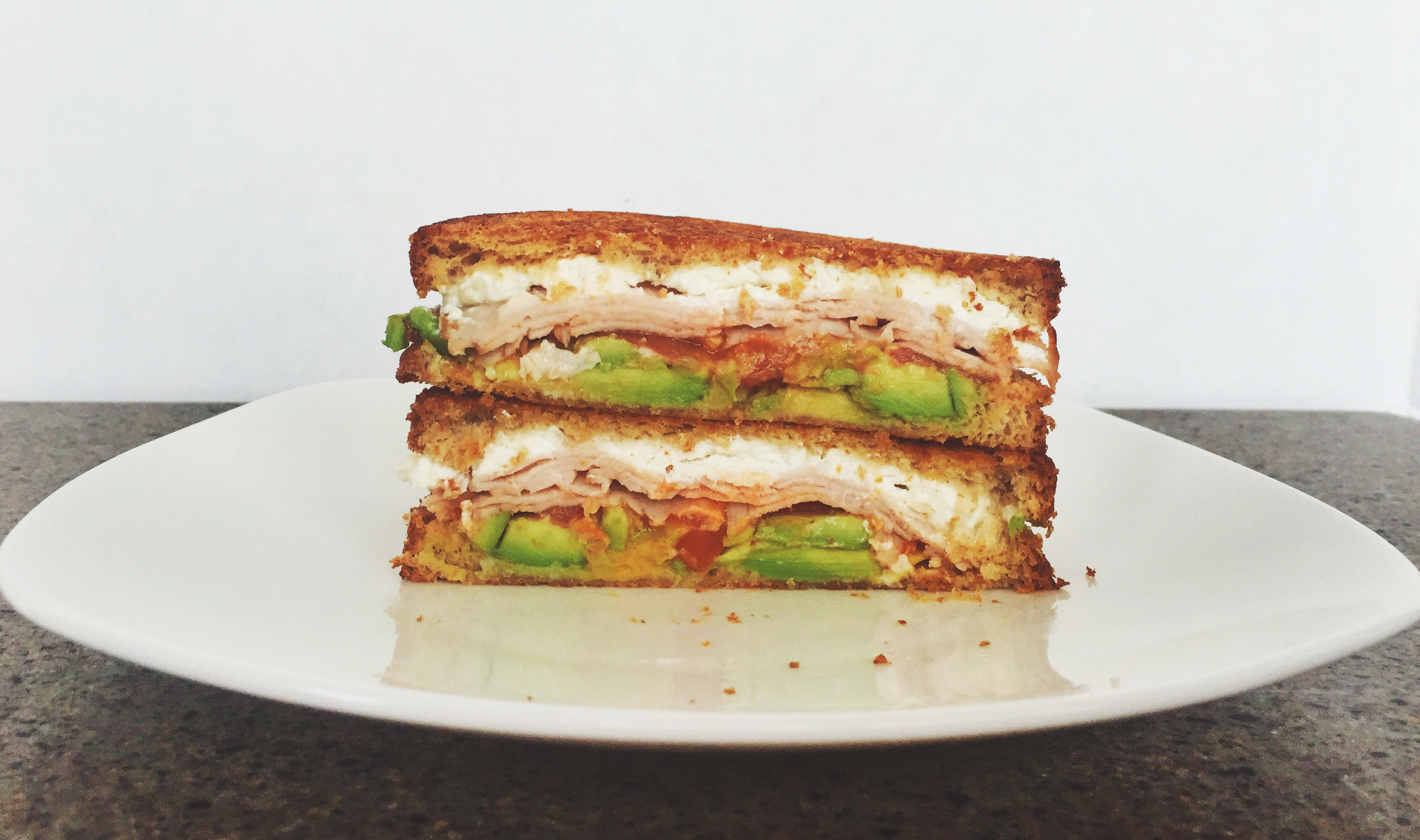 Sriracha Avocado Grilled Goat Cheese