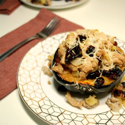 Ground Turkey and Apple Stuffed Acorn Squash