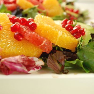 Winter Citrus Salad with Avocado and Pomegranate