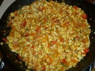 First round of veggies and corn.