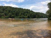 The beach and swimming hole at East Palisades.