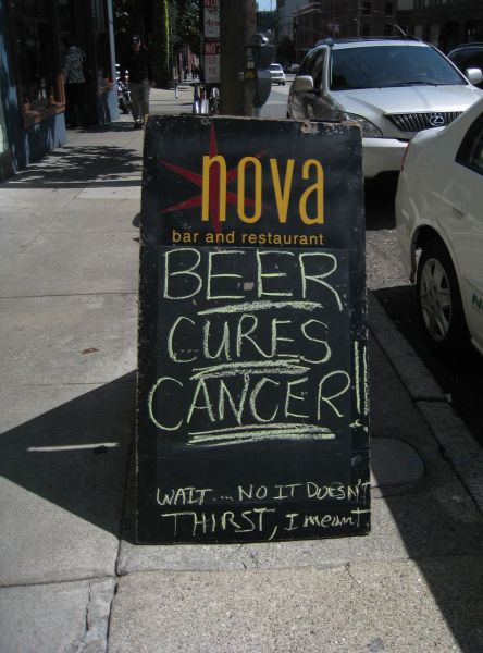 Beer cures cancer