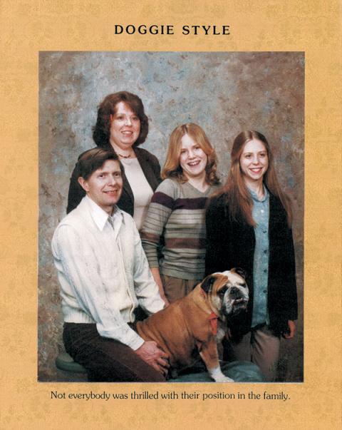 Doggie style family photo