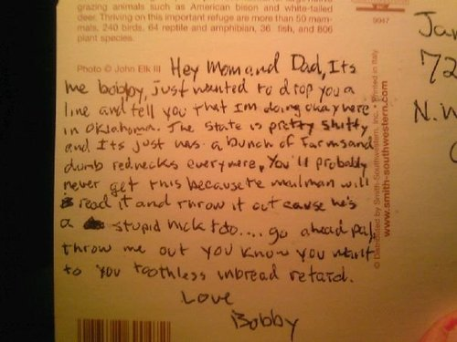 Postcard from bobby
