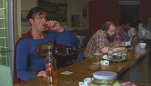 Superman at the bar