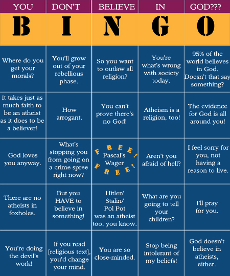 Atheist bingo